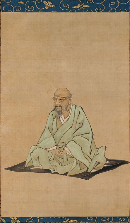 Portrait d'Itō Jakuchū par Kubota Beisen 久保田米僊 - Shōkoku-ji 相国寺, domaine public, https://commons.wikimedia.org/w/index.php?curid=46577211